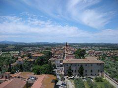お城からみるカスティリオーネ・デル・ラーゴの全景