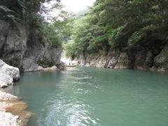 諏訪峡の景色