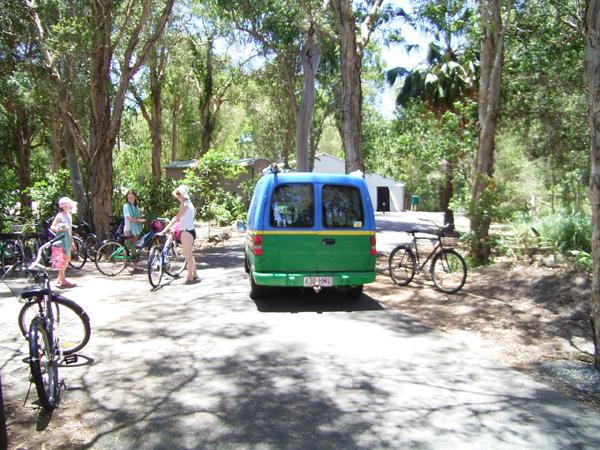 リゾートでは自動車と自転車が共存