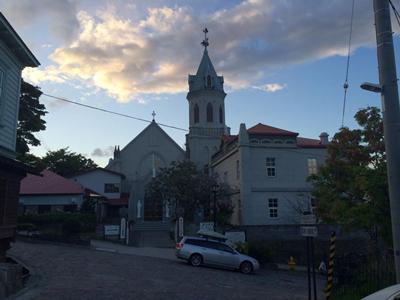 函館市元町末広町伝統的建造物群保存地区の夕日