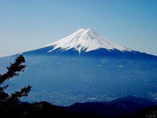 富士山、三つ峠からの眺め