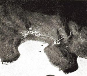 写真3「南阿波パークウエイ関連施設基本計画」計画図と模型(明丸地区)2