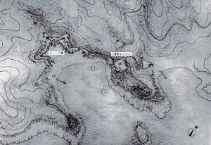 写真3「南阿波パークウエイ関連施設基本計画」計画図と模型(明丸地区)1
