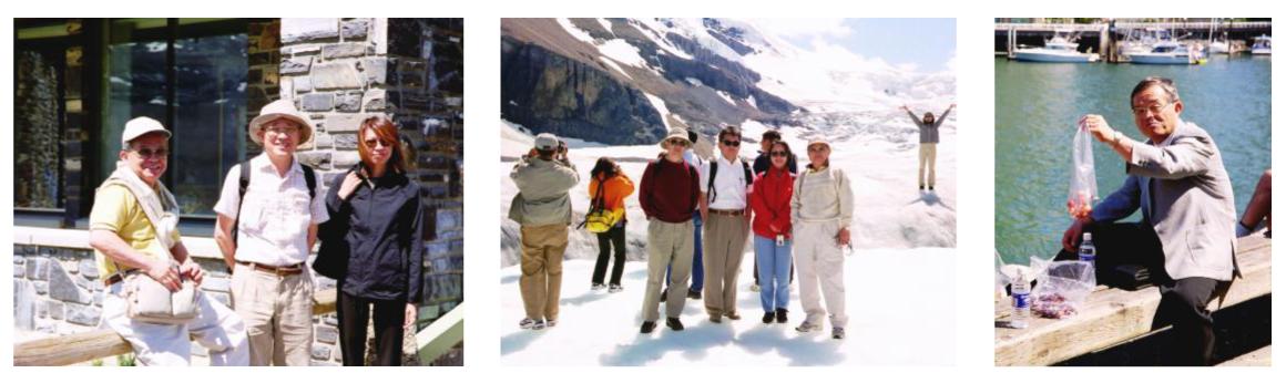 写真3 カナダの国立公園視察(2001)