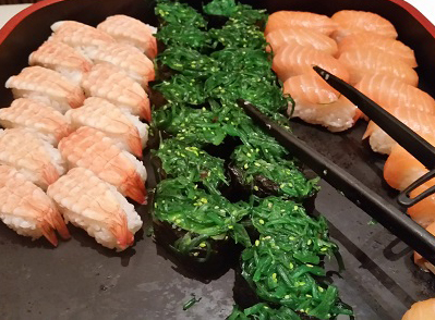 写真1:緑色の寿司ネタ