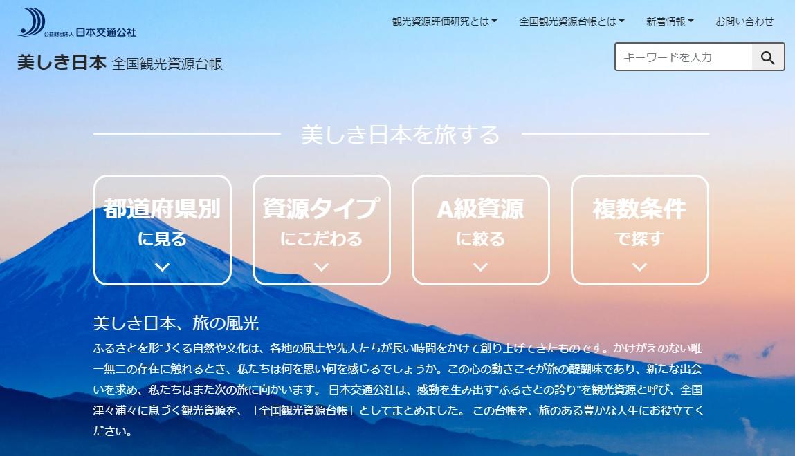 観光資源の分類や評価とその活用に関する研究
